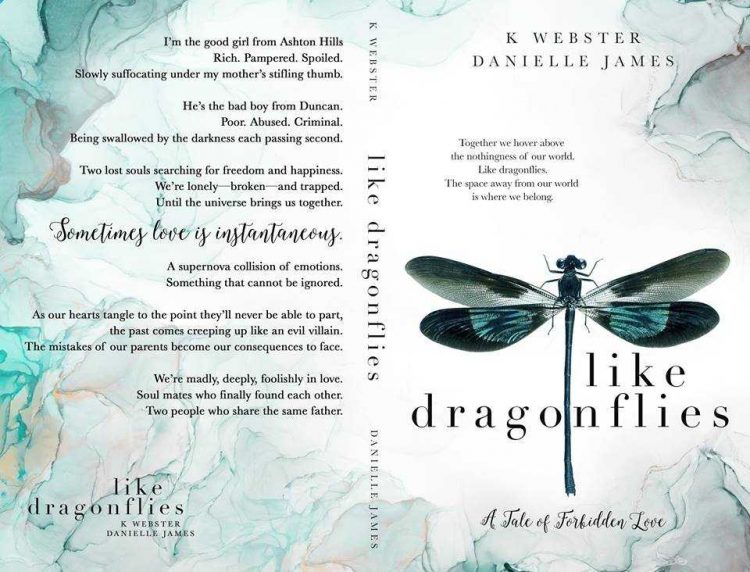 It's #CoverReveal day for Like Dragonflies by K Webster and Danielle James! We're beyond