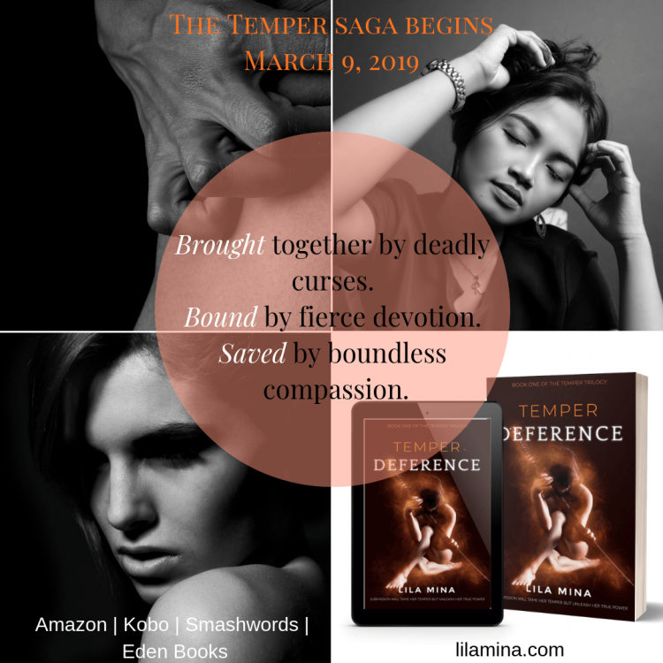 Ahh, I'm so excited! The first book of my TEMPER trilogy, DEFERENCE, is set for release tomorrow,