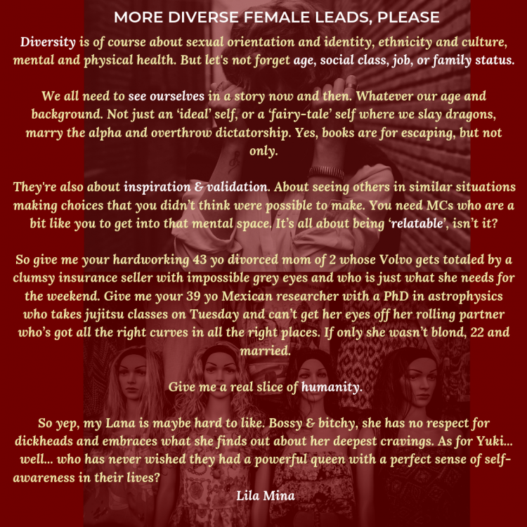 It's time to write more diverse female leads! Yes to Girl Power!